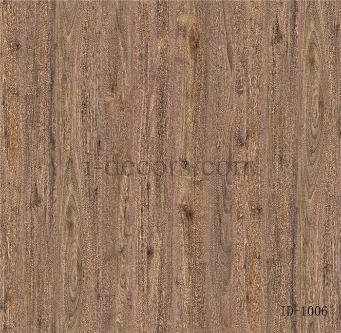 ID1006 walnut decor paper 4 feet with imported ink