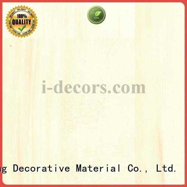 PU coated paper grain I.DECOR Decorative Material Brand wood grain paper